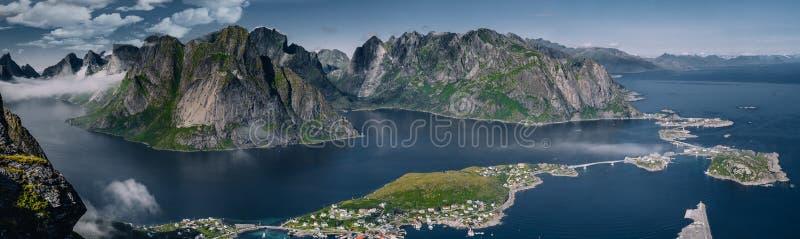 Lofoten`s fjord horizon stock image
