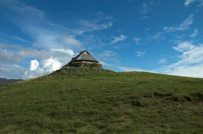 lofotr博物馆北欧海盗 免版税库存照片