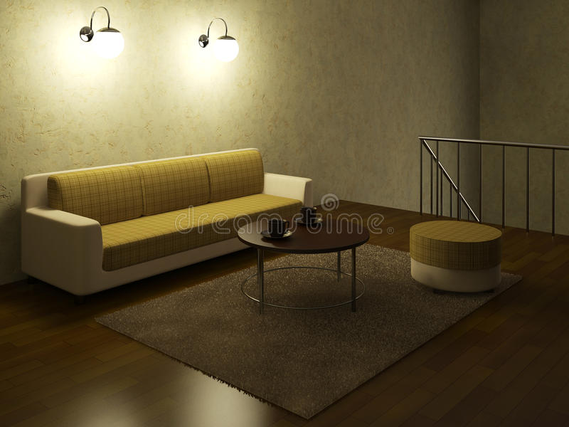Download The loft stock illustration. Image of decor, construction - 26015880