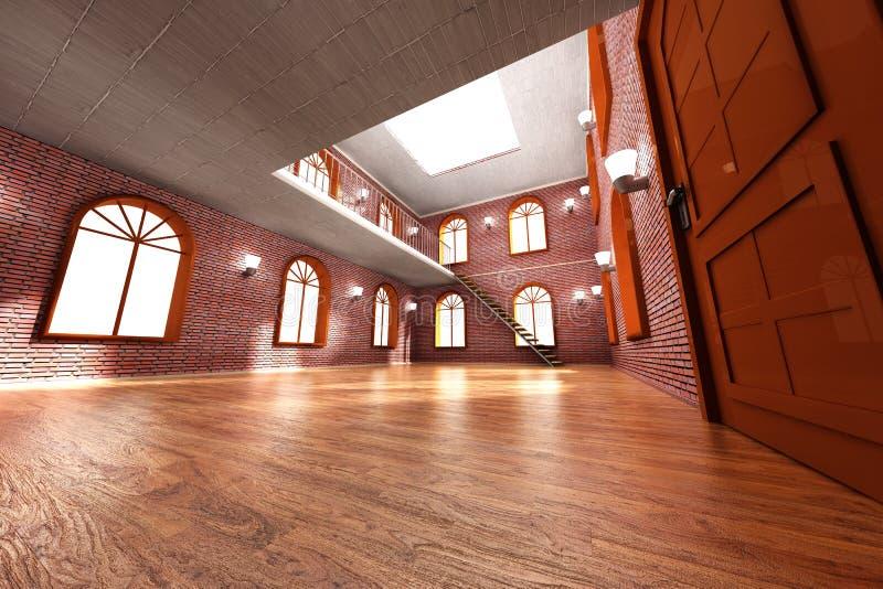 Loft Interior royalty free illustration