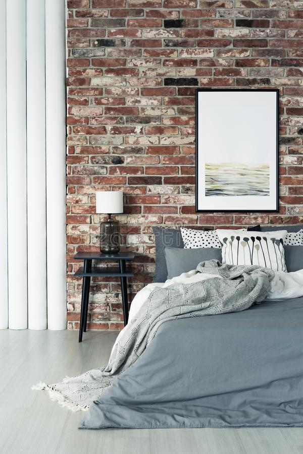Loft interior with painting royalty free stock photos
