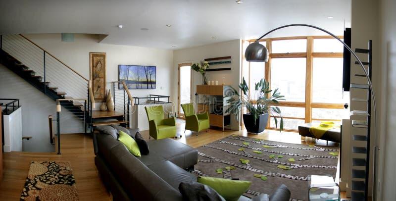 Download Loft living room stock image. Image of chandelier, stools - 16672825