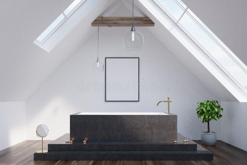 Loftbadrummet, svart badar, affischen vektor illustrationer