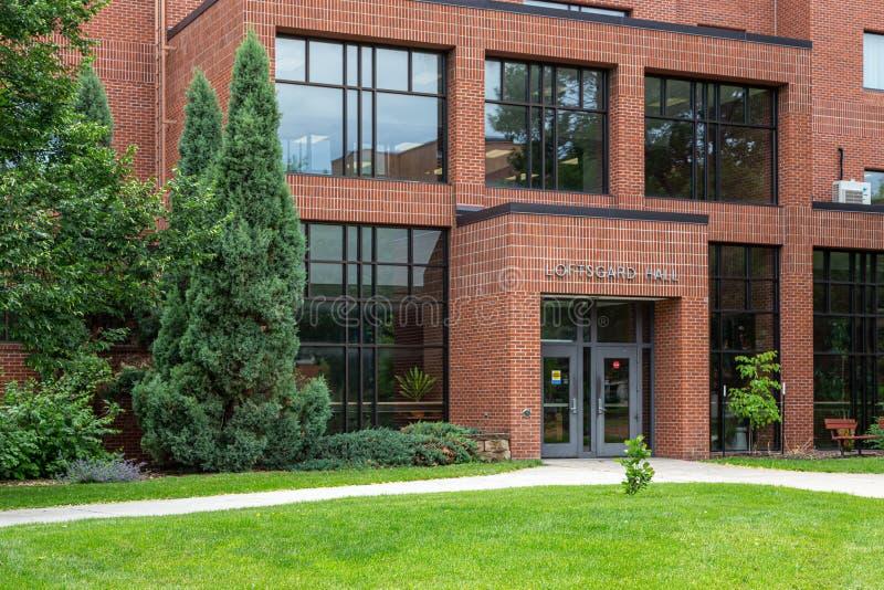 Loftsgard Hall på den North Dakota delstatsuniversitetet royaltyfria foton