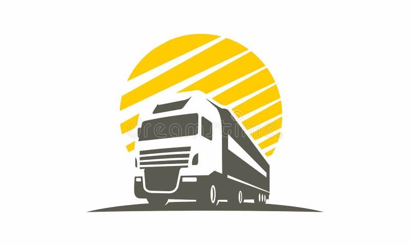 Logística do logotipo do transporte do carro do caminhão imagens de stock royalty free