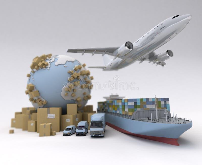 Logística global stock de ilustración