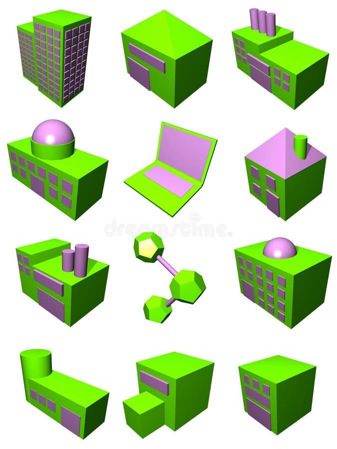 Logística Industr da cadeia de aprovisionamento ilustração stock