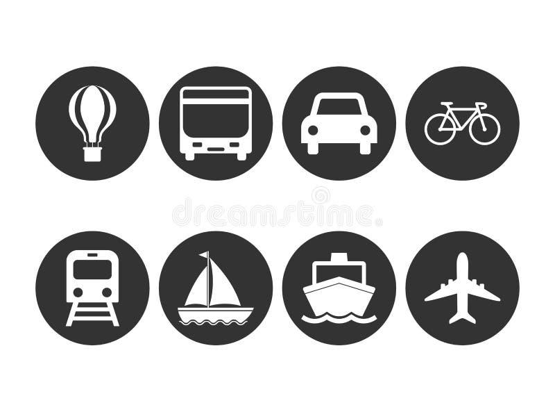 Logística, transporte, icono del vehículo Ejemplo del vector, dise?o plano ilustración del vector
