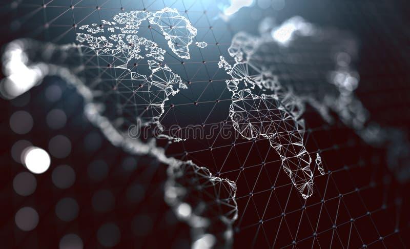 Logística y envíos internacionales Aro de la comunicación de la compañía ilustración del vector