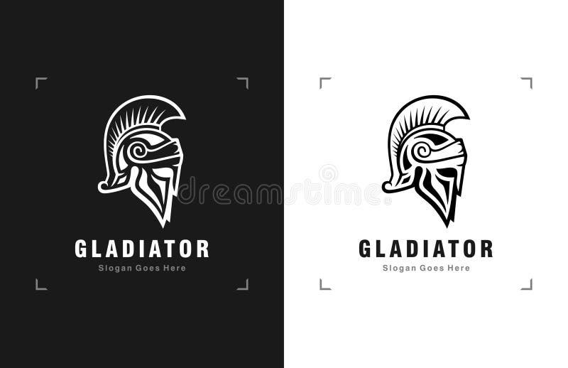 Logótipo do Gladiator Knight ilustração stock
