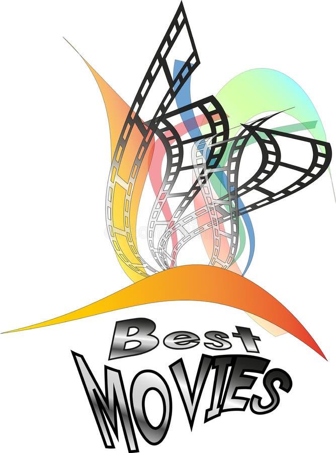 Logów Najlepszy filmy - wektor royalty ilustracja