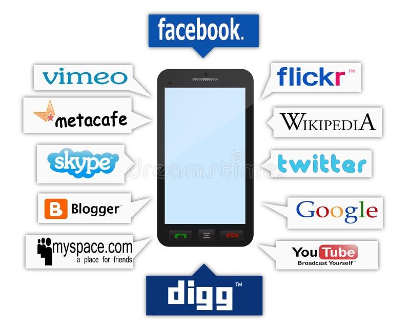logów telefonu socjalny royalty ilustracja