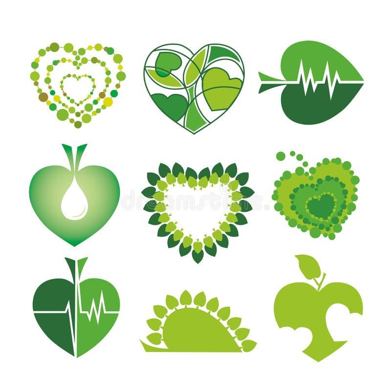 Logów zdrowie i środowisko w dla royalty ilustracja