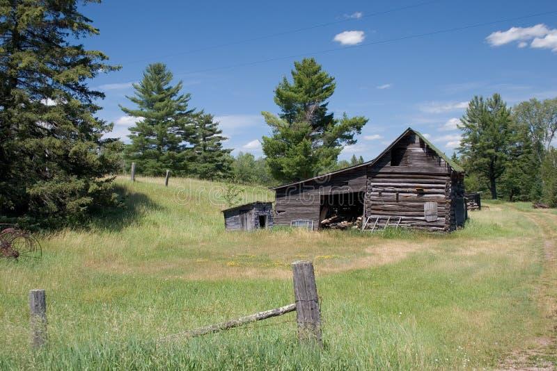 Log Barn stock photography