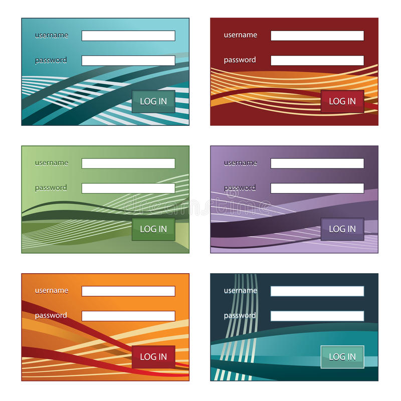 Log in boxes stock illustration