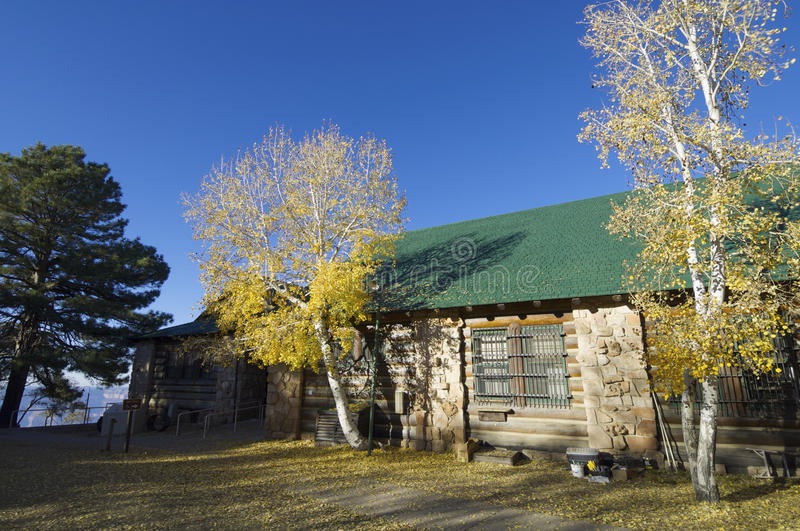 Log cabin. In the National Park Grand Canyon, Arizona, United States stock image