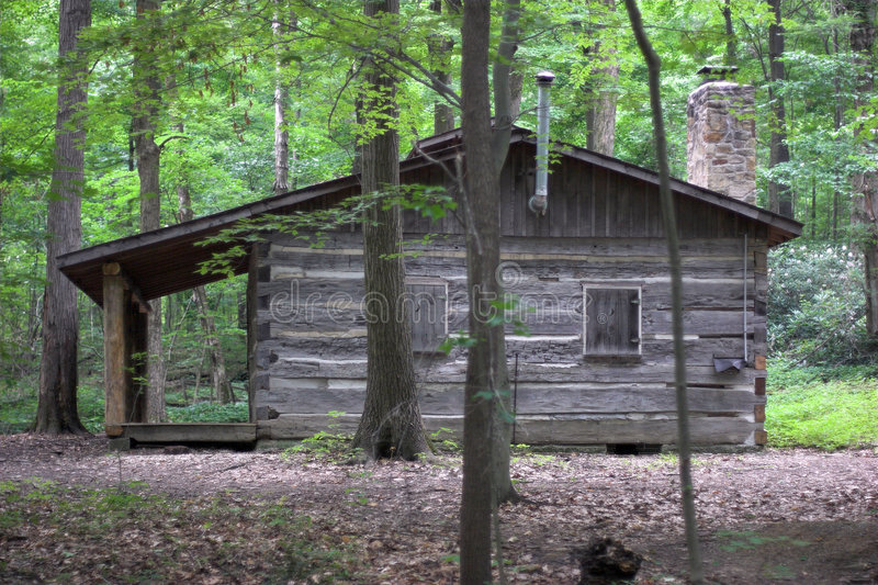 Download Log Cabin stock image. Image of stone, hidden, mountain - 163359