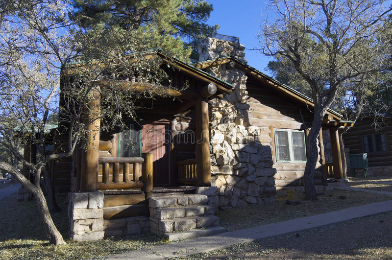 Log cabin. In the National Park Grand Canyon, Arizona, United States stock images