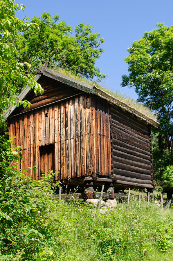 Download Log cabin stock image. Image of grass, door, lodge, forest - 27249593