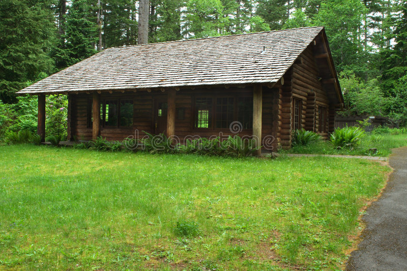 Log cabin stock image