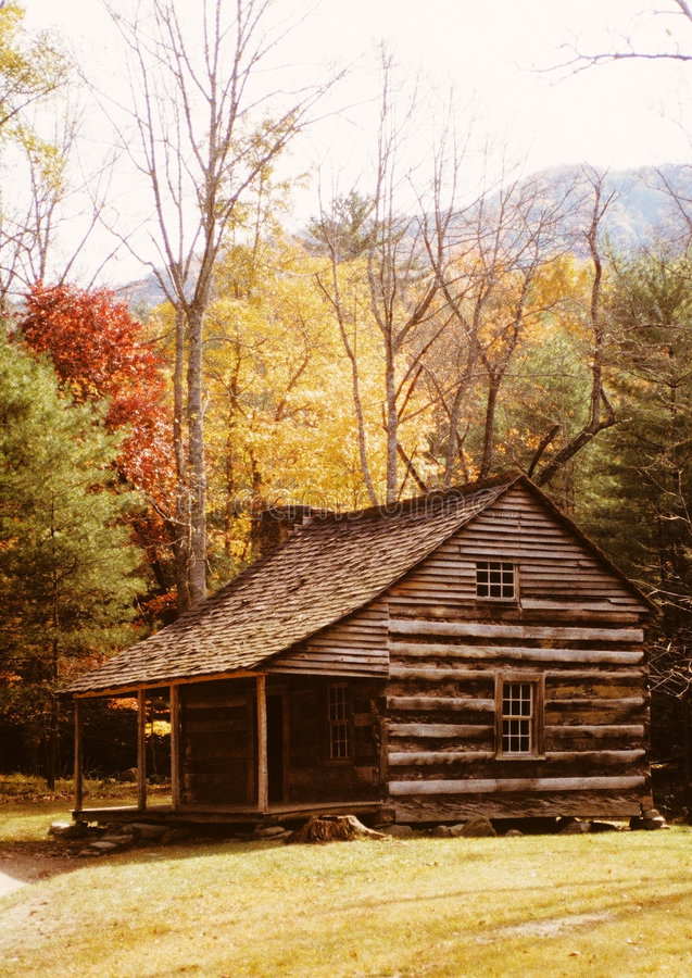 Download Log Cabin Among Autumn Trees Stock Images - Image: 3066104