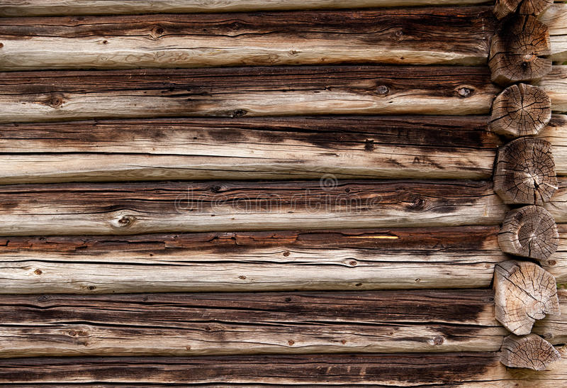 Log Cabin Background. A background texture of a log cabin wall stock images