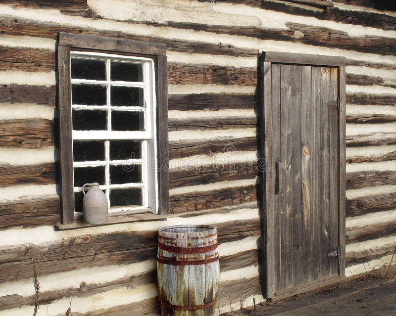Download Log Cabin Door Window Close-up Stock Photo - Image of weathered vintage & Log Cabin Door Window Close-up Stock Photo - Image of weathered ...