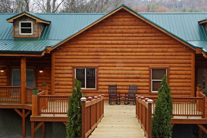 Log Cabin Home royalty free stock photos