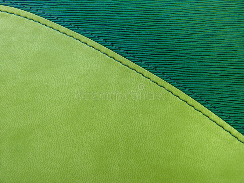 Daily log cover. Leather green cover of a notebook stock photo