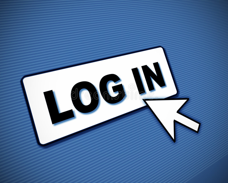Log-in doos en pijl royalty-vrije illustratie