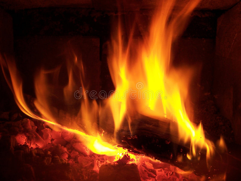 Log on the Fire royalty free stock image