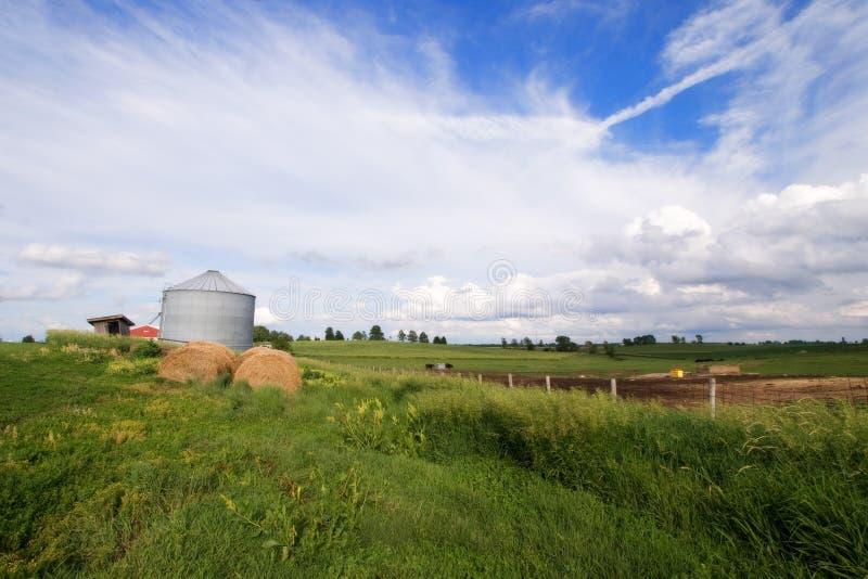 Log hay Illinois silos pola