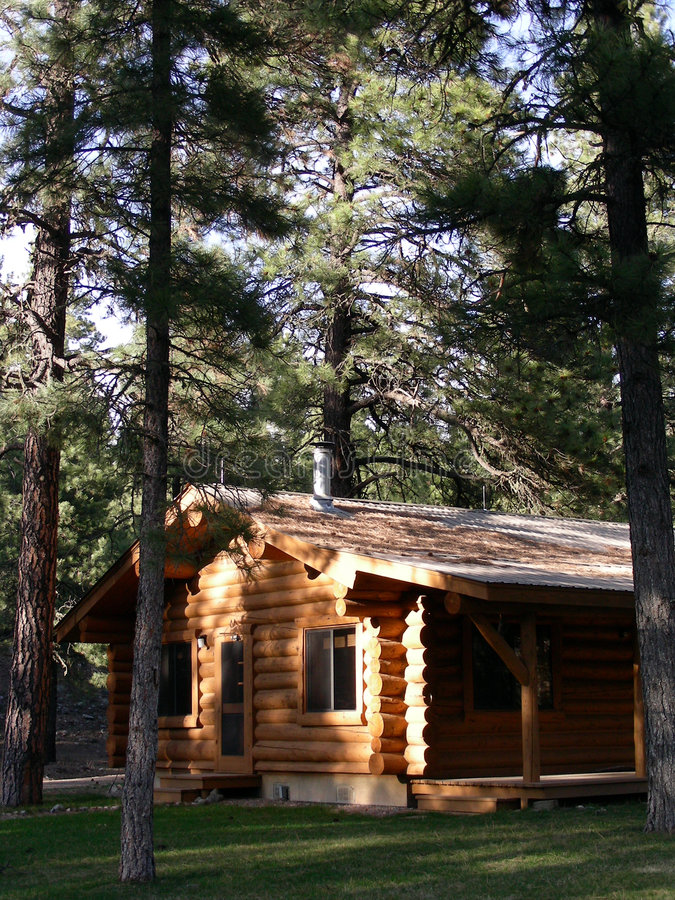 Download Log Home stock image. Image of mountains, rocky, tree - 2313177