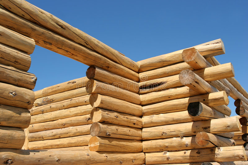 Download Log home construction stock image. Image of building, lumber - 179837
