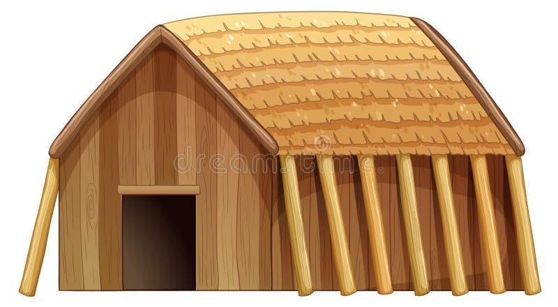 Log house vector illustration