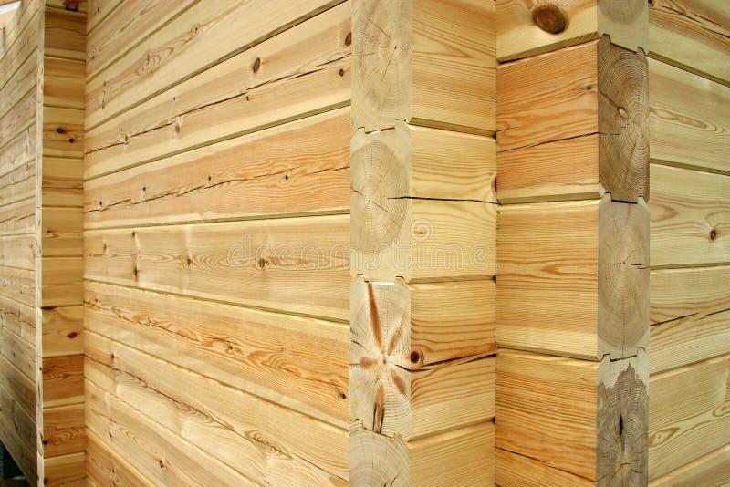 Log house wall stock photography