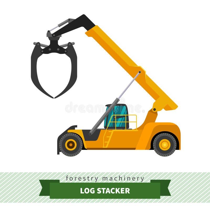 Log stacker vehicle vector illustration