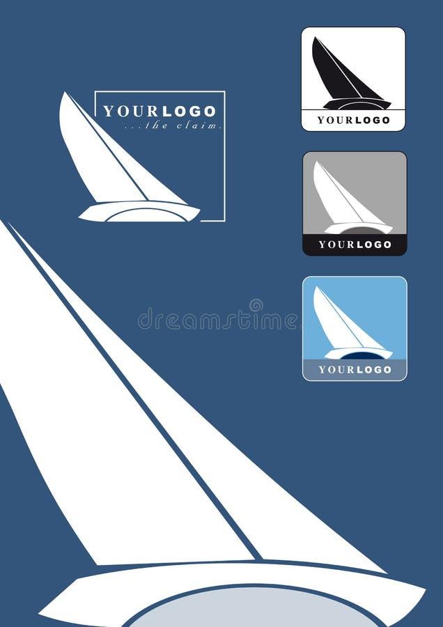 loga łódkowaty żeglowanie ilustracja wektor