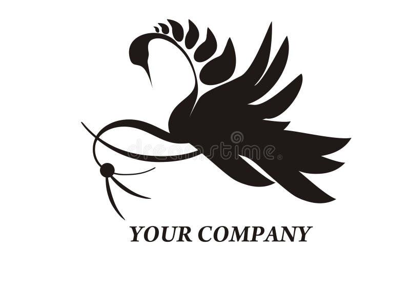 loga łabędź royalty ilustracja