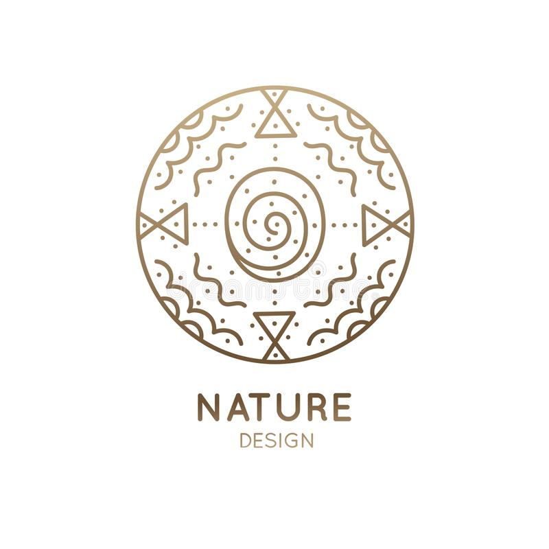 Loga abstrakta natura royalty ilustracja
