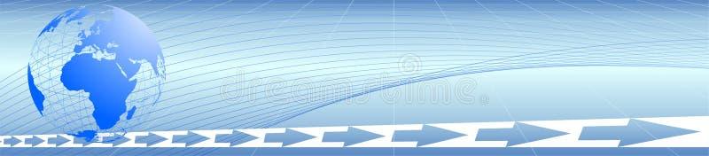 loga błękitny świat ilustracji