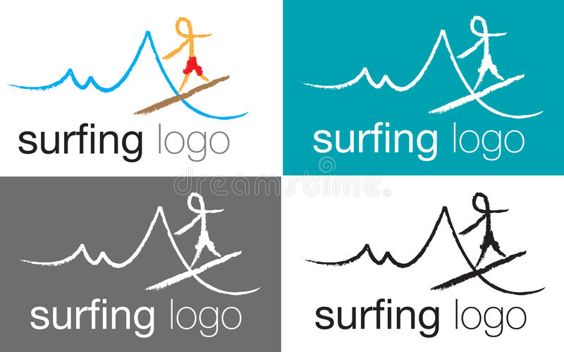loga denna surfingu fala ilustracja wektor