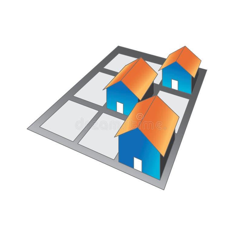 loga domowy sąsiedztwo royalty ilustracja