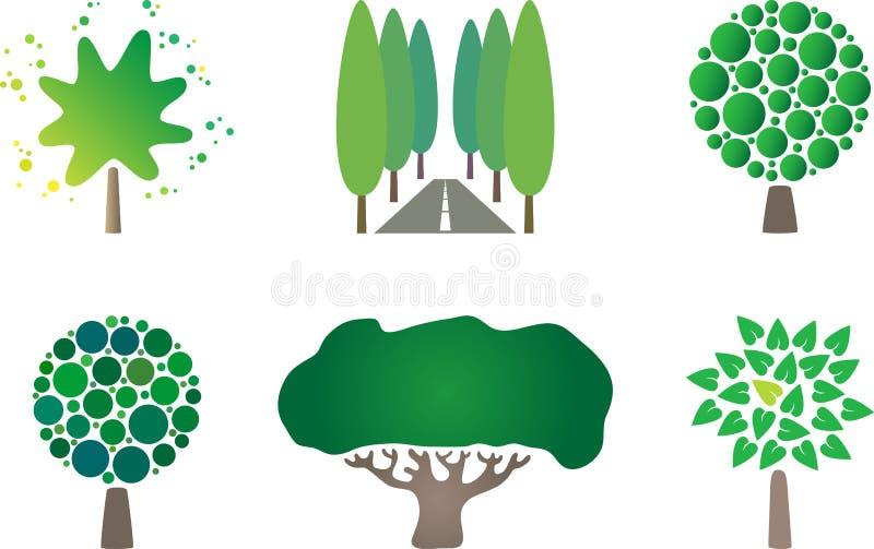 loga drzewo royalty ilustracja