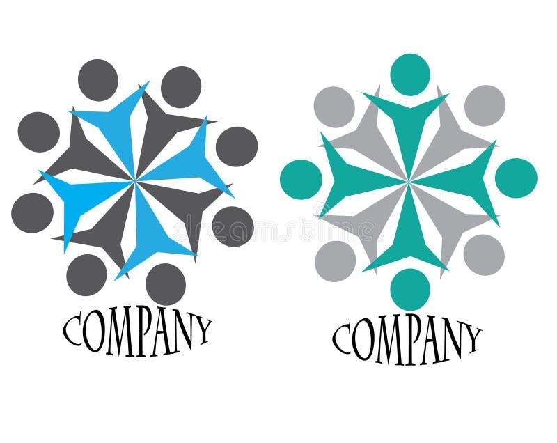 loga ducha drużyna ilustracja wektor