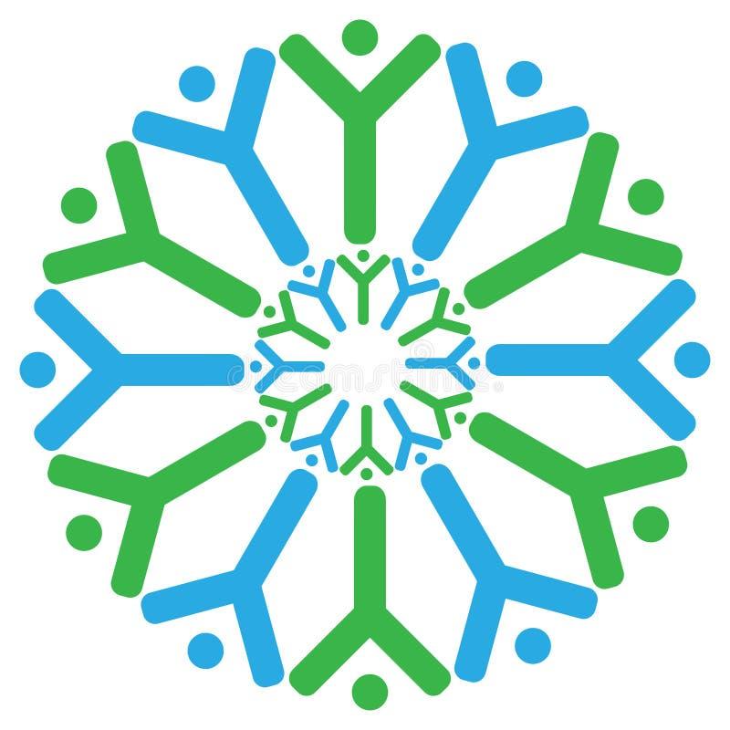 loga ducha drużyna royalty ilustracja