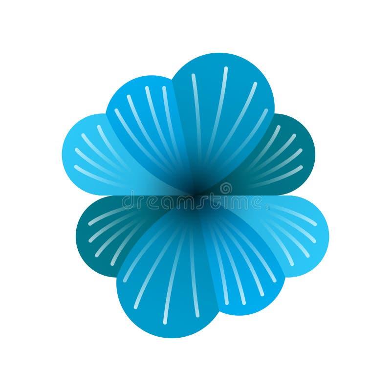 Loga dwa błękitne chmury z białymi liniami i kwiaty, błękitni kwiatów logowie z dwoistą dane ochroną ilustracji