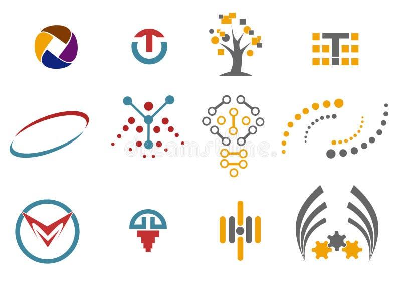12 loga i projekta elementu zdjęcia royalty free