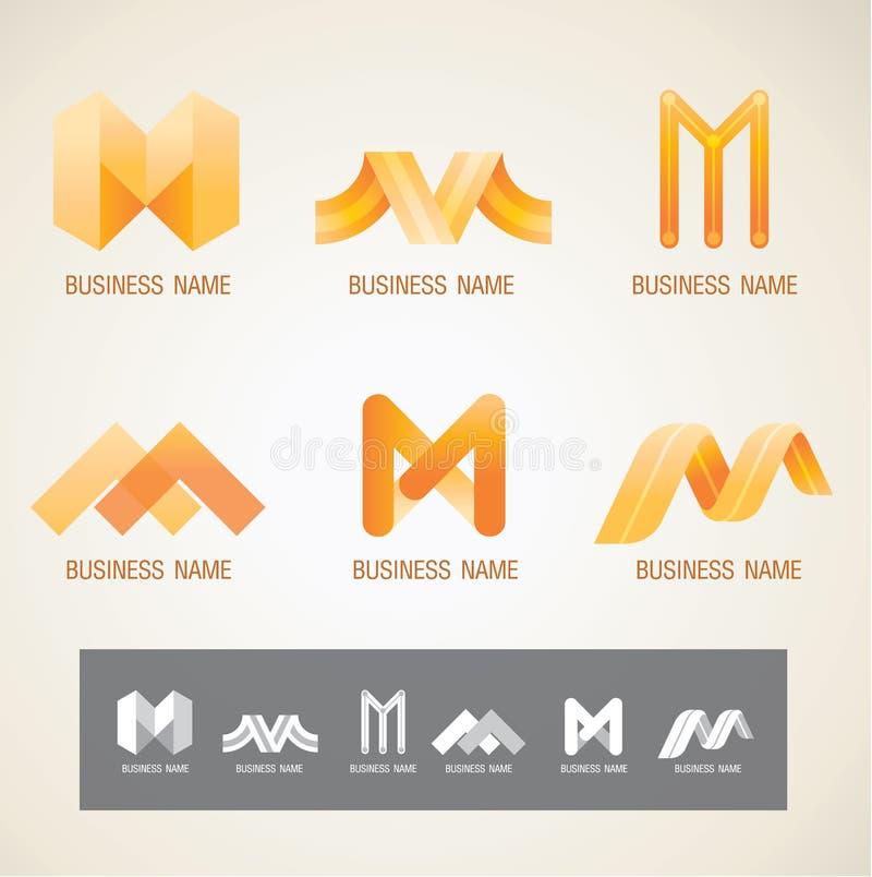 Loga i symbolu projekta M pojęcie ilustracji