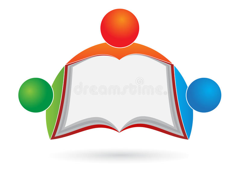 loga książkowy czytelnik royalty ilustracja